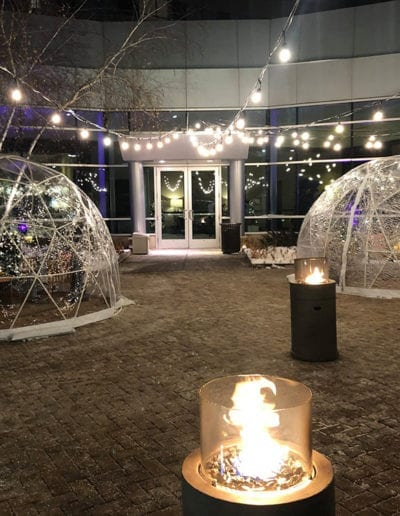 Igloos In The Courtyard